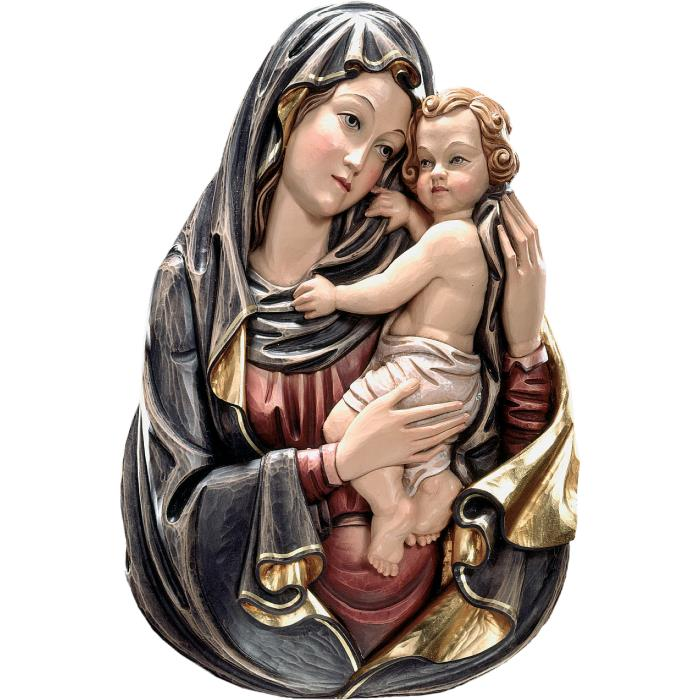 Half-length Madonna with child