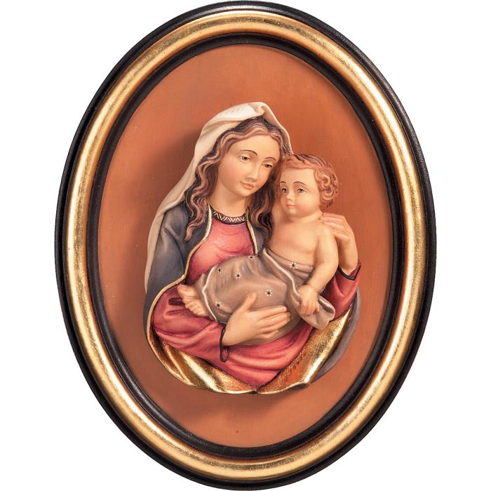 Half-length Madonna and frame