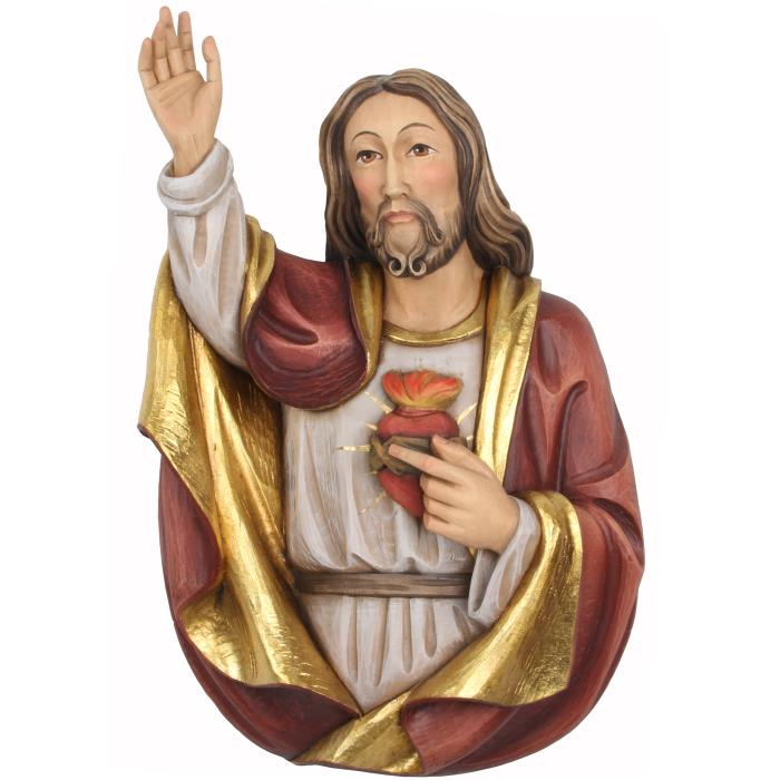 Sacred Heart of Jesus half-length portrait