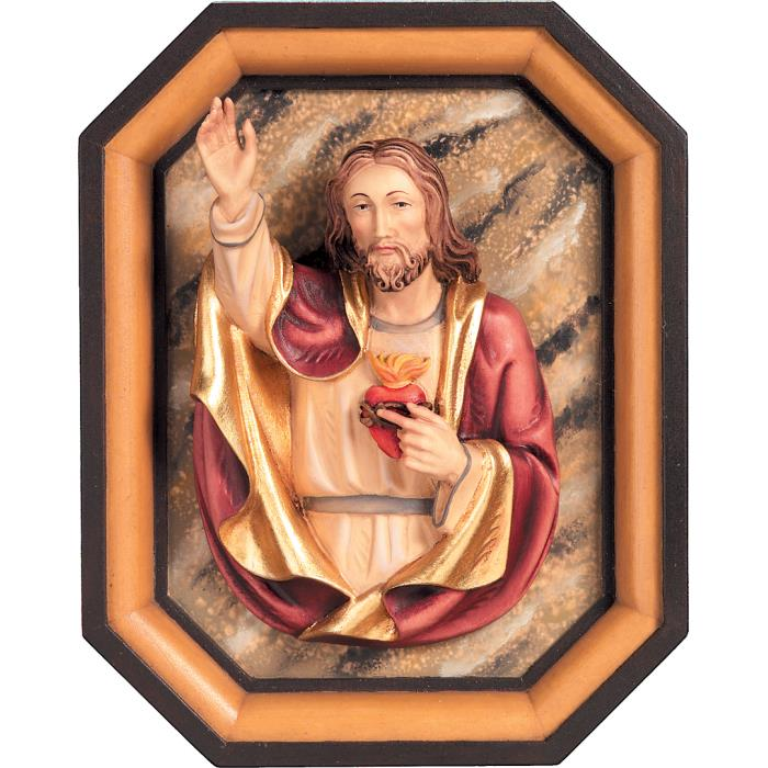 Sacred Heart of Jesus half-length with frame