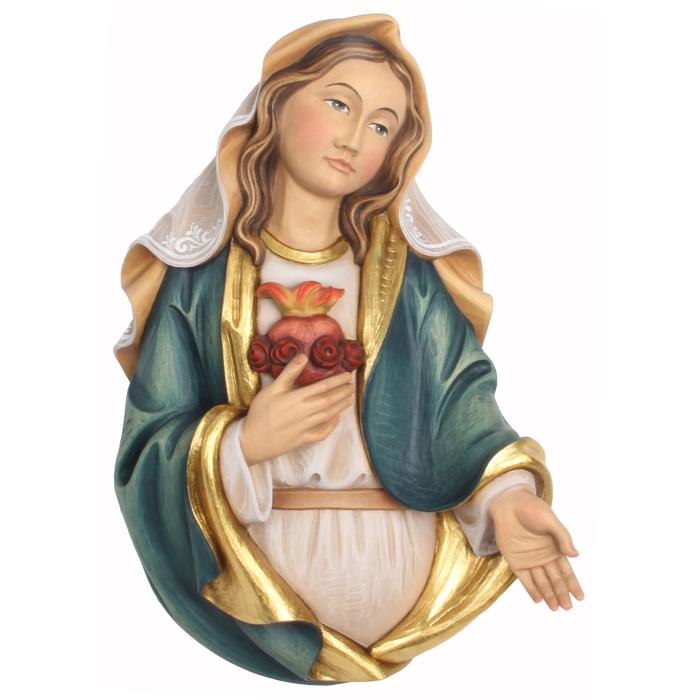 Immaculate Heart of Mary half-length portrait