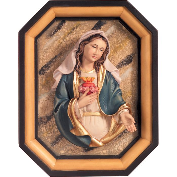 Immaculate Heart of Mary half-length with frame