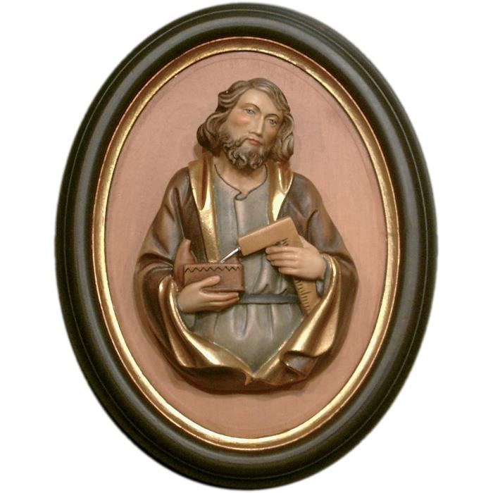 St. Joseph half length portrait with frame