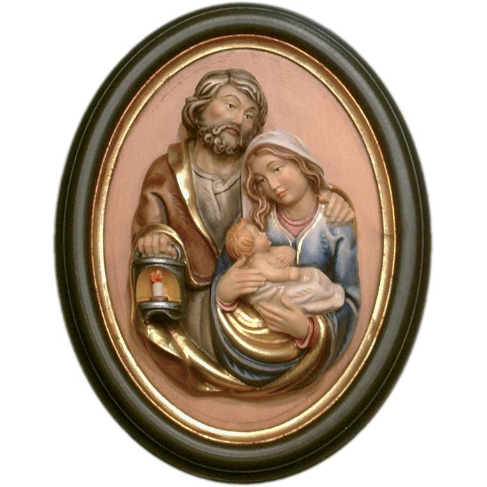 Holy Family half length portrait with frame