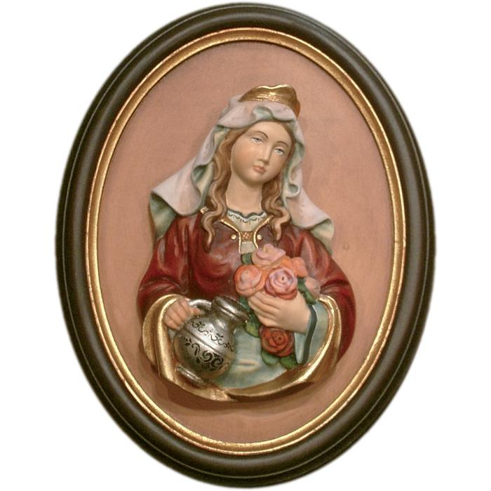 St. Elisabeth half length portrait with frame