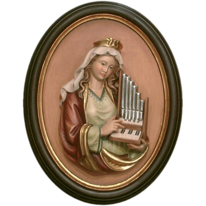 St. Cecily half length portrait with frame