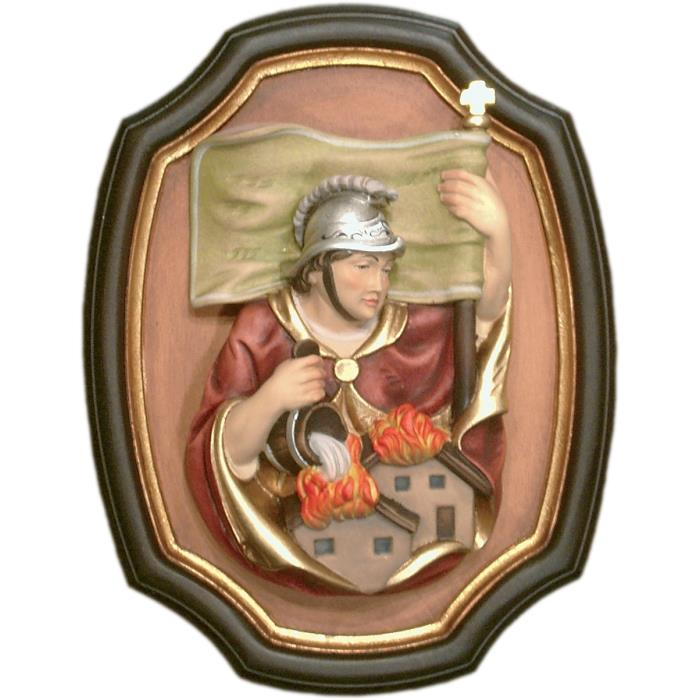 St. Florian half length portrait with frame