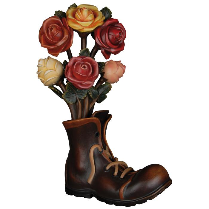 Bunch of roses with shoe