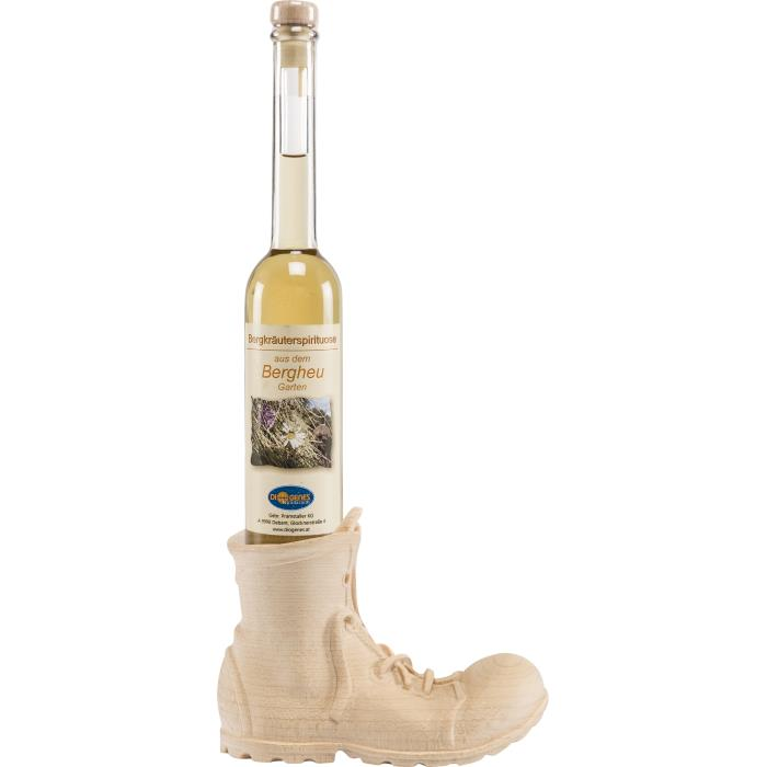 Boot with bottle of liquor