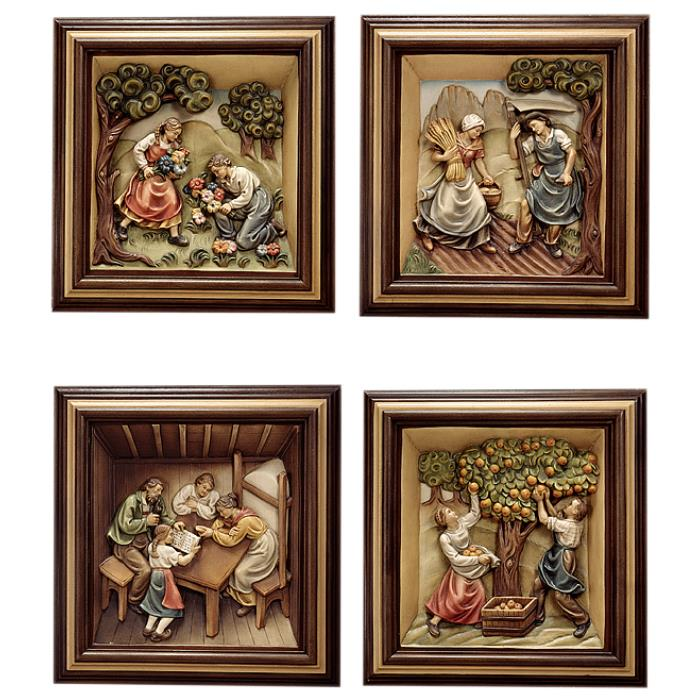 4 reliefs 4 seasons with frame