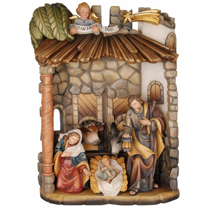 Romantic shed with Holy Family