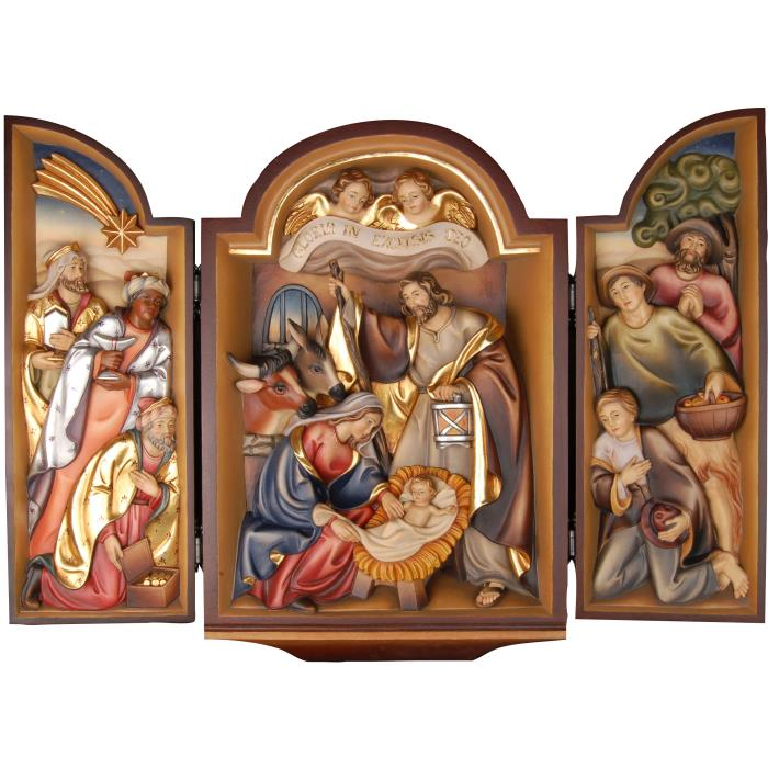 Triptych with crib