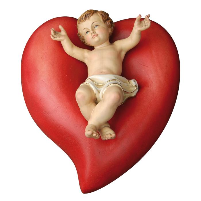 Heart with Jesus child
