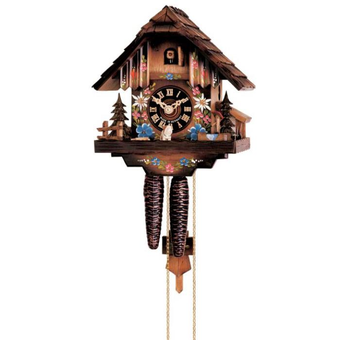Cuckoo clock chalet with flowers