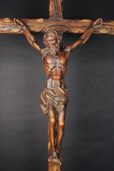 ancient Crucified Christ crucifix particular
