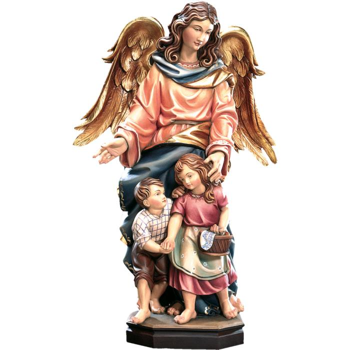 Guardian angel with two children
