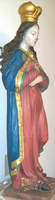 Renovated Statue of Holy Mary Side-view