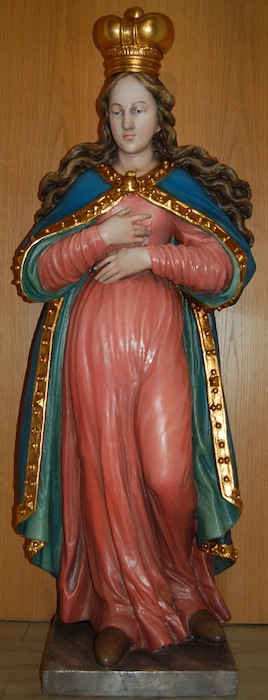 Renovated Statue of Holy Mary Restored Holy Mary