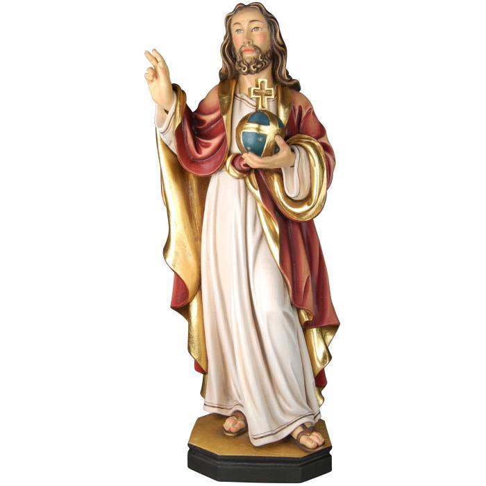 Salvator mundi arte sacrale vendita scultura in legno for Arredo sacro a raggiera