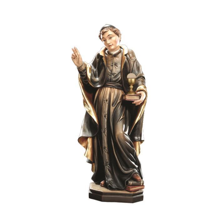 Color Gerhard mit durchbohrtem Herz Design Echtholz Hl 15cm 9 Heiligenfigur