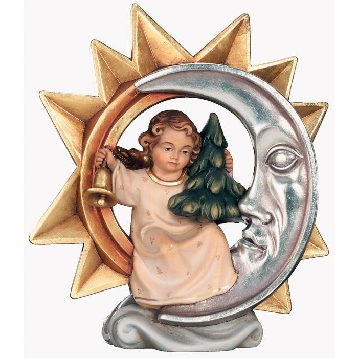 Star with angel, bell and Christmas tree