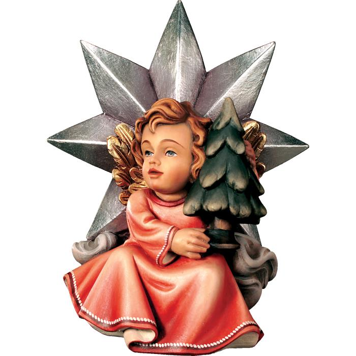 Angel with star and christmas tree