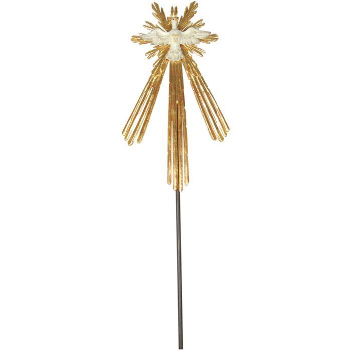 Holy Spirit with aura on stick
