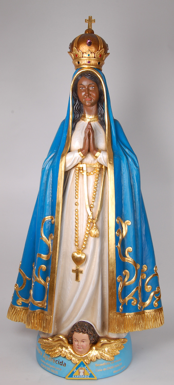 Black Madonna for a Brazilian client Finished wooden sculpture of the Black Madonna