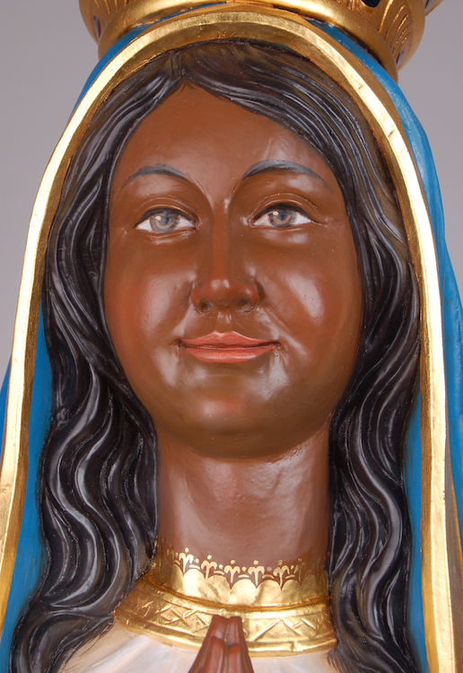 Black Madonna for a Brazilian client Detailed picture of the face