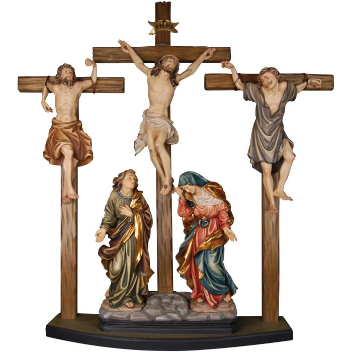 Crucifixion group with robbers