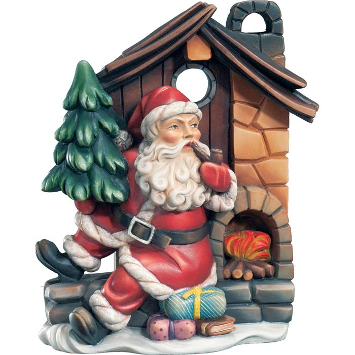 Santa Claus with house