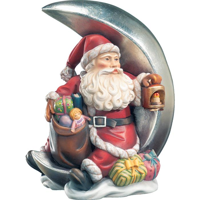 Santa Claus with moon and latern