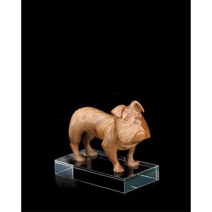 Bulldog (with pedestal in plexiglas)
