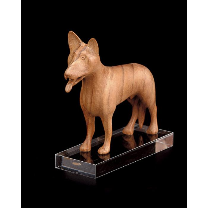 Sheep-dog (with pedestal in plexiglas)