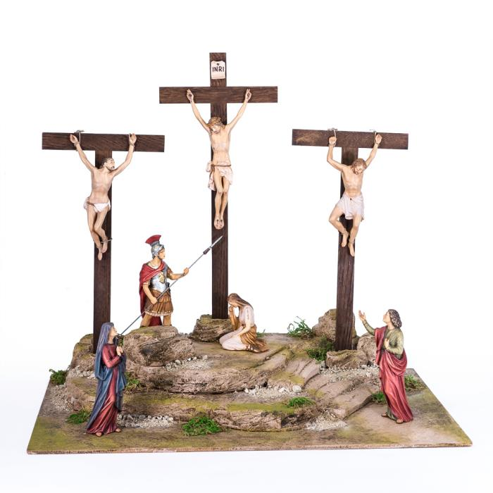 Crucifixion with 7 figures + pedestal SH