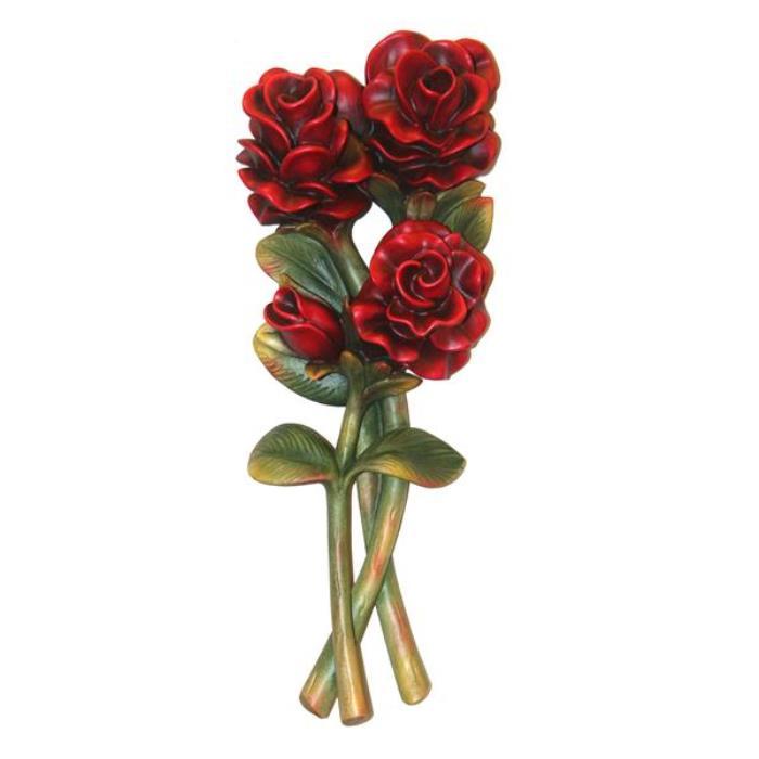 Mazzo di rose fiori vendita scultura in legno 22 cm for Mazzo per esterni in legno