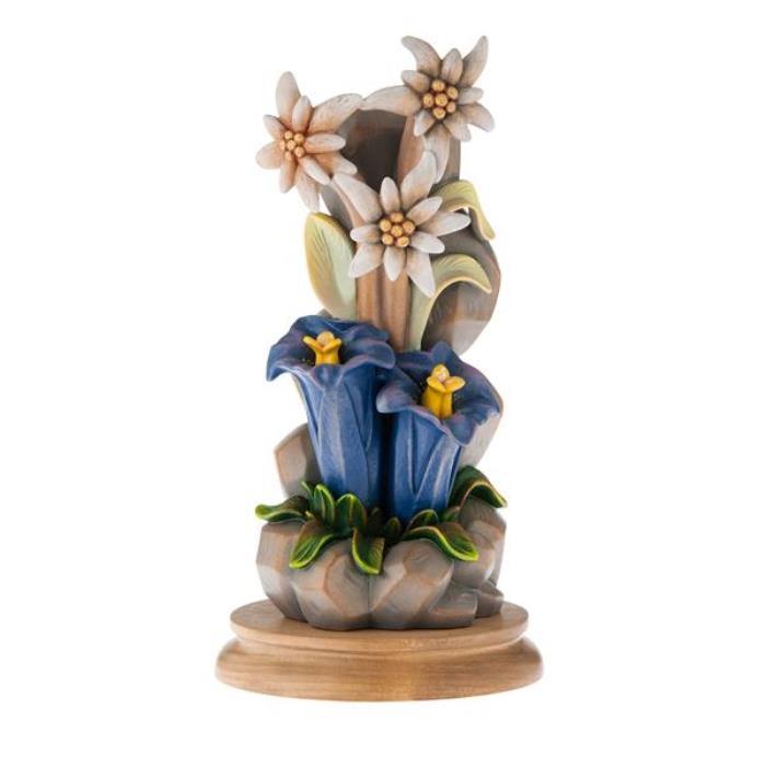 Fiore alpino in piedi fiori vendita scultura in legno 9 for Sculture di fiori