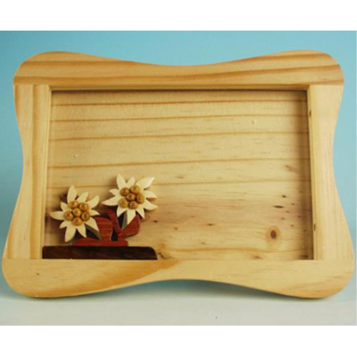 Picture frame with edelweiss