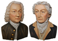 Portait Bach and Beethoven