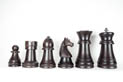 Chess figures and draughts