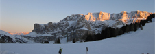 Snow on Val Gardena and fantastic skiing