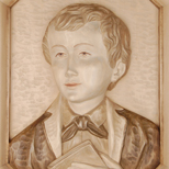 Bas-relief of the bust of St. Dominic Savio