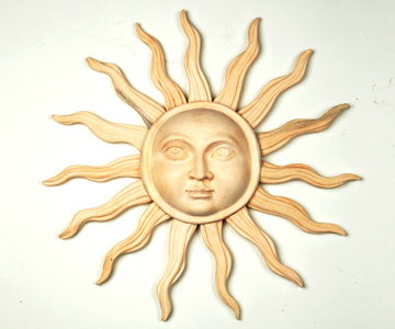 wood carving of the Sun: realized